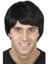 Mens Black Wig Perfect For Football Fancy Dress